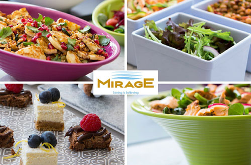The Mirage collection of melamine tableware exclusively available from Lockhart Catering Equipment