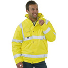 Keep Safe Hi-Vis Yellow Bomber Jacket