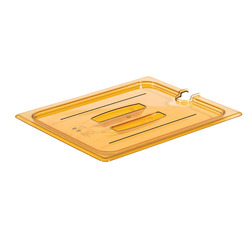 Gastronorm Notched Lid High Heat Poly 1/1 Amber