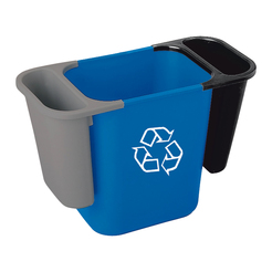 Deskside Recycling Waste Bin Blue 26.6ltr