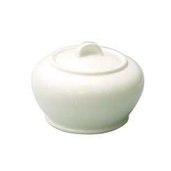 Alchemy White Sugar Bowl Covered 22cl