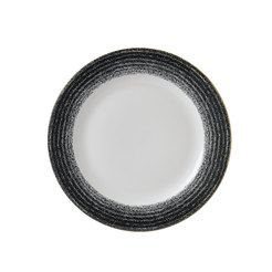 Charcoal Black Rimmed Plate 10.9 inch