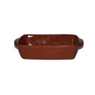 Emilio Rectangle Dish Brown Terracotta 32X22cm