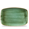 Stonecast Samphire Green Oblong Chefs Plate No.9