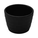 Black Melamine Rippled Ramekin 7.5cl