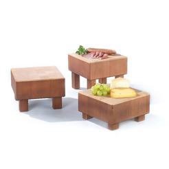 Low Butchers Block Beechwood 21 x 21 x 11cm