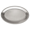 Meat Flat Stainless Steel Oval 18 x 25cm