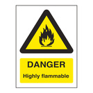 Warning Sign Danger Highly Flammable