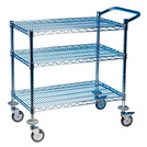 Utility Trolley 3 Tier Chrome Frame