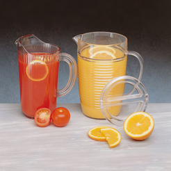 Plastic Jug Plain Lip 3 3/4pt With Lid