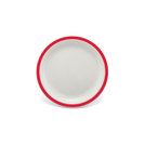 Duo Plate Narrow Rim Red 17cm Polycarbonate