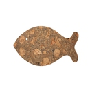 Ocean Fish Pot Stand In Iceberg Grey Cork