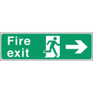Safety Sign Fire Exit Right Arrow