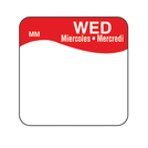 Daymark label Wednesday Removable Square 2.5cm