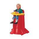 Kiddi Cone High Chair Stackable Red Poly