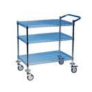 Utility Trolley 2 Tier Chrome Frame