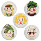 Ms Food Face Dinner Plate