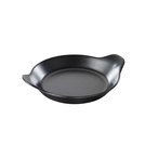 French Black Round Eared Dish 18cm 35cl