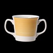 Freedom Double Handled Mug Yellow 10oz 28.5cl