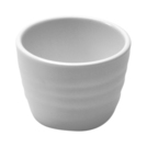 White Melamine Rippled Ramekin 7.5cl