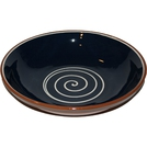 ABS Terracotta 38cm Bowl (Blue with Cream Swirl)
