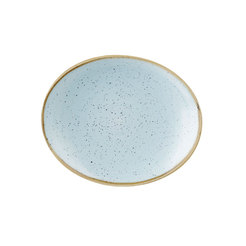 Stonecast Duck Egg Blue Oval Coupe Plate 19.7cm