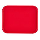 Tray Cafeteria Red Oblong Poly 46 x 36cm