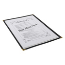 American Style Clear Menu Holder 1 Page