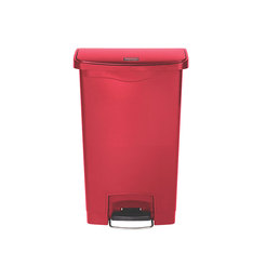 Slim Step-On Bin Front Step 50 ltr Red