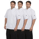 Chefs Jacket White Triple Pack - Short Sleeve
