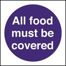 Kitchen Food Safety All Food Must Be covered