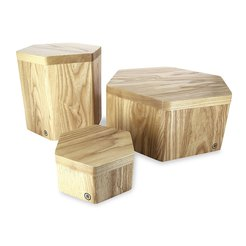 Inspired By Revol Wood Display Riser Set Of 3