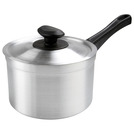 Saucepan Medium Duty Alum 5.5ltr 22cm With Lid