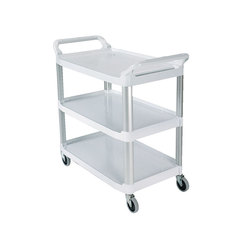 Rubbermaid X-tra Trolley 3 Tier White Frame