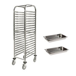 Self Assembly Trolley 20 GN 1/1 & 2 Gn 1/1 Pans 65mm