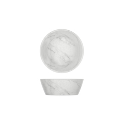5 Inch White Marble Effect Bowl 295ml