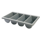 Cutlery Box Polypropylene 4 Compartments Grey