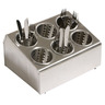 Cutlery Dispenser S/S 6 Compartments