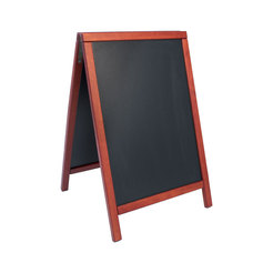 Hard wood pavement chalk board mahogany
