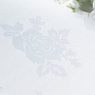 Rose Design Tablecloth Ivory 114 x 114cm