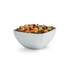 White Square Insulated Serving Bowl 4.9 Litre