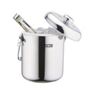 S/S Ice Bucket 1.3ltr With Tongs And Holder