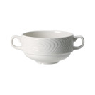 Optik Stacking Soup Cup Handled 10oz White