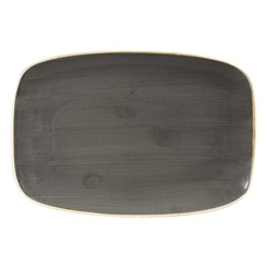 Stonecast Grey Oblong Chefs Plate No. 9