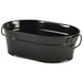 Galvanised Steel Serving Bucket Black