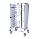 Tray Clearing Trolley Painted Frame 2 x 12 Tray