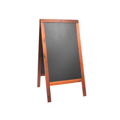 Pavement chalk board mahogany