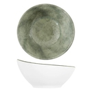 White Shakti Stone Melamine Curved Bowl 144x141x70mm