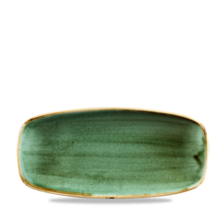 Stonecast Samphire Green Chefs Oblong Plate No. 2