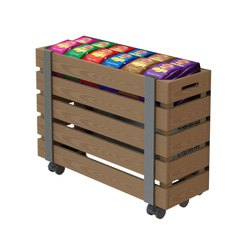 Money Maker Mobile Impulse Timber Basket 1800mm wide